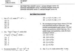 Soal SBMPTN 2013 + Kunci Jawaban