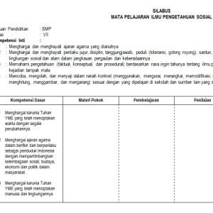 Download Silabus IPS SMP Kurikulum 2013