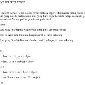 Materi 16 Tenses Bahasa Inggris