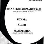 Naskah Soal Ujian Sekolah Madrasah SD Matematika 2014