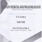 Naskah Soal Ujian Sekolah Madrasah SD Matematika 2015