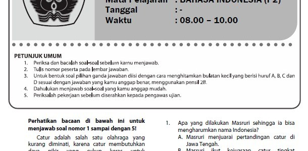 16 Paket Soal Latihan Ujian Sekolah SD/MI Bahasa Indonesia