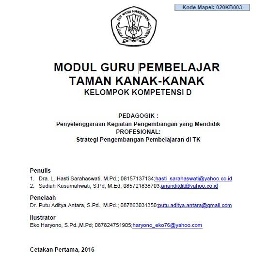 Modul Guru Pembelajar Taman Kanak-Kanak (TK) - SoalUjian.Net 3bb6f81f2c738