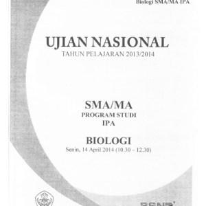 Naskah Soal UN Biologi SMA IPA 2014