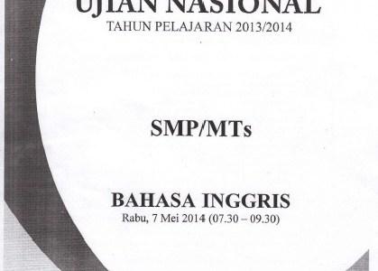 Naskah Soal UN SMP 2014 Paket 1 Lengkap