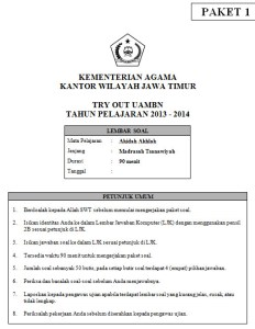 Soal Tryout UAMBN MTs dan Kunci Jawaban