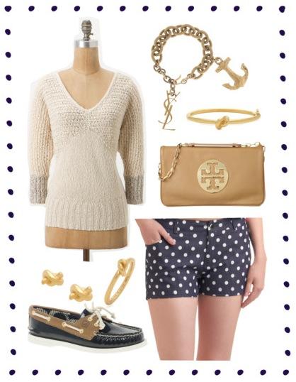 29834e090e1 Anchor Charm Bracelet, Yves Saint Laurent, $348. Sailor's Knot Bangle /  Studs / Ring, Kate Spade, $78 / $48 / $48. Reva Leather Clutch, Tory Burch,  ...