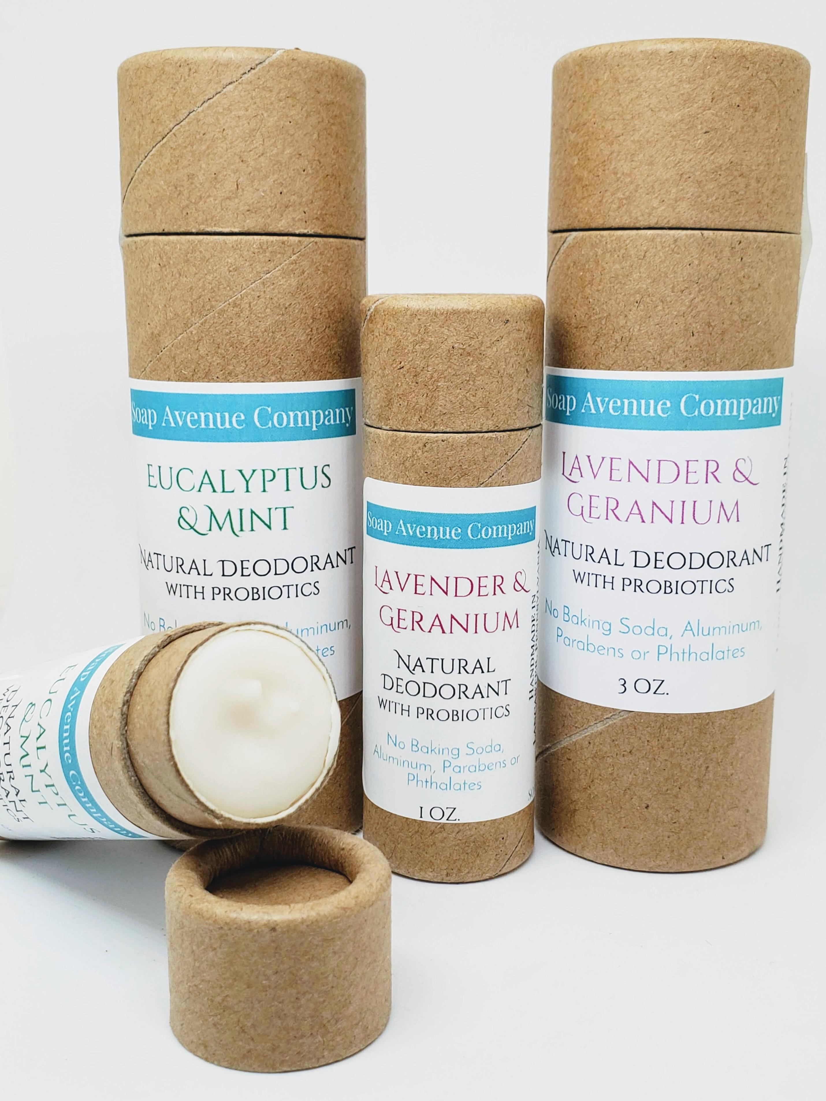 Natural Deodorant with Probiotics ~ No Baking-Soda, Aluminum, Parabens or  Phthalates