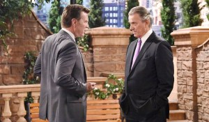 "Peter Bergman, Eric Braeden ""The Young and the Restless"" Set  CBS television City Los Angeles 07/17/15 © Jill Johnson/jpistudios.com 310-657-9661 Episode # 10735 U.S. Airdate 08/19/15"