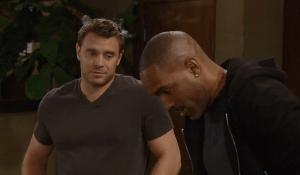 Curtis visits Jason's baby -ABC