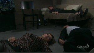 kate and marlena and vivian passed out