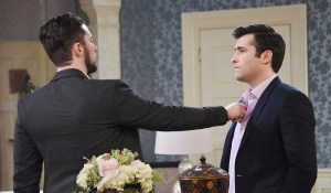 chad touches sonny's chest