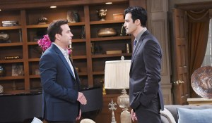 ted visits stefan at the dimera house
