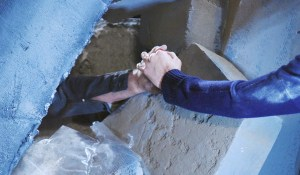 eric and nicole hold hands