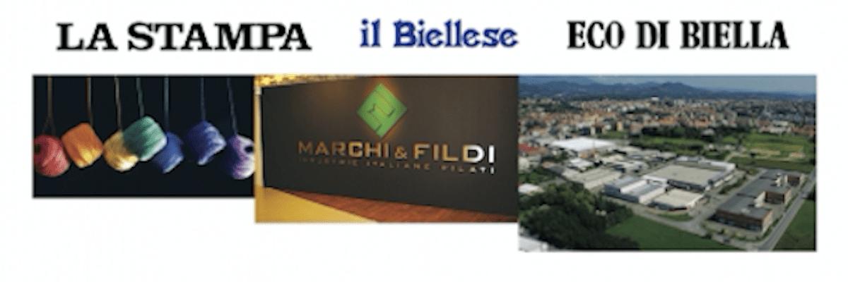 Marchi & Fildi ringrazia pubblicamente Soardo e Associati su 'Eco di Biella', 'Il Biellese' e 'La Stampa'
