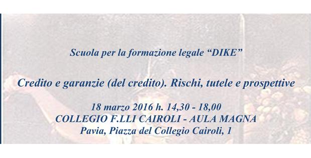 Vittorio Soardo relatore al convegno: 'Credito e garanzie (del credito). Rischi, tutele e prospettive'.