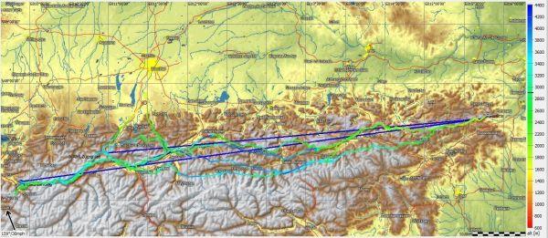Mathias Schunk 1750Km FlightTrace