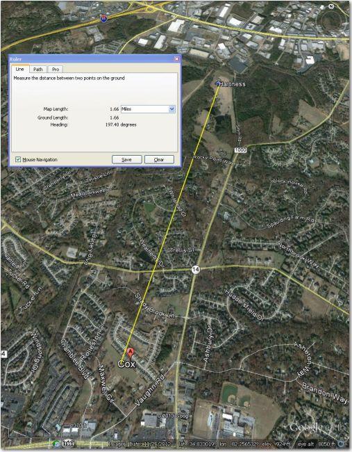 Hartness Airstrip - 1.5 mi NNE of Cox Airstrip