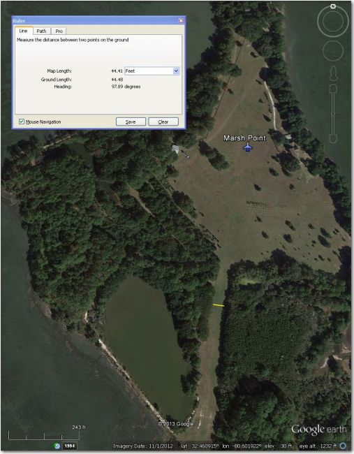 An honest-to-go island airstrip!  Better off at Beaufort County, 4 mi SW
