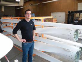 Dirk Stroebl's team has produced 250 wind wings so far