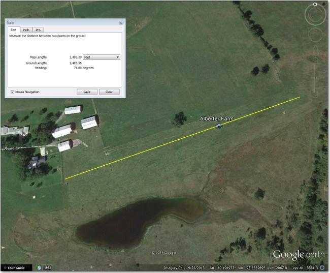 Alberter Farm Airstrip.  Can