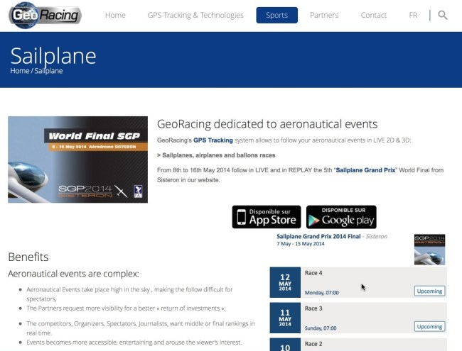 GeoRacing Website