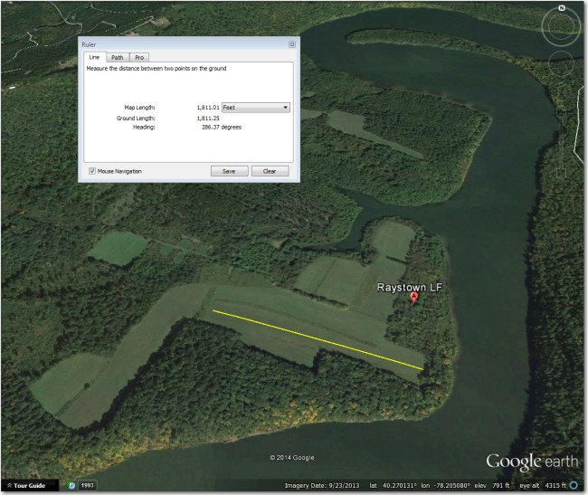 Raystown Dam LF:  Not an airstrip, but a handy (and only!) bailout option if the Raystown Dam ridge doesn't work