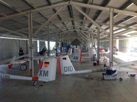 Z all gliders in hangar