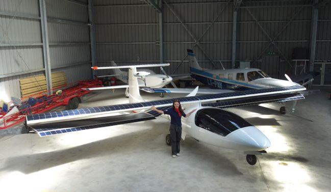 Irena in Pavullo's hangar