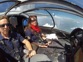 Sunseeker's side by side cockpit