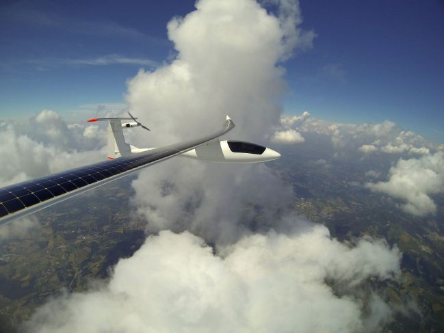 cruising above the clouds