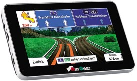 An Android running car navigator. Easy to use, built-in GPS and cheap!