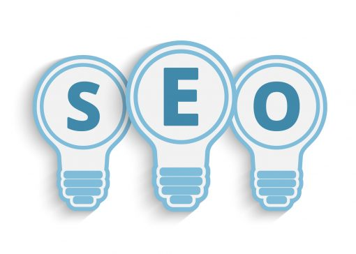a seo concept with bulb and gears