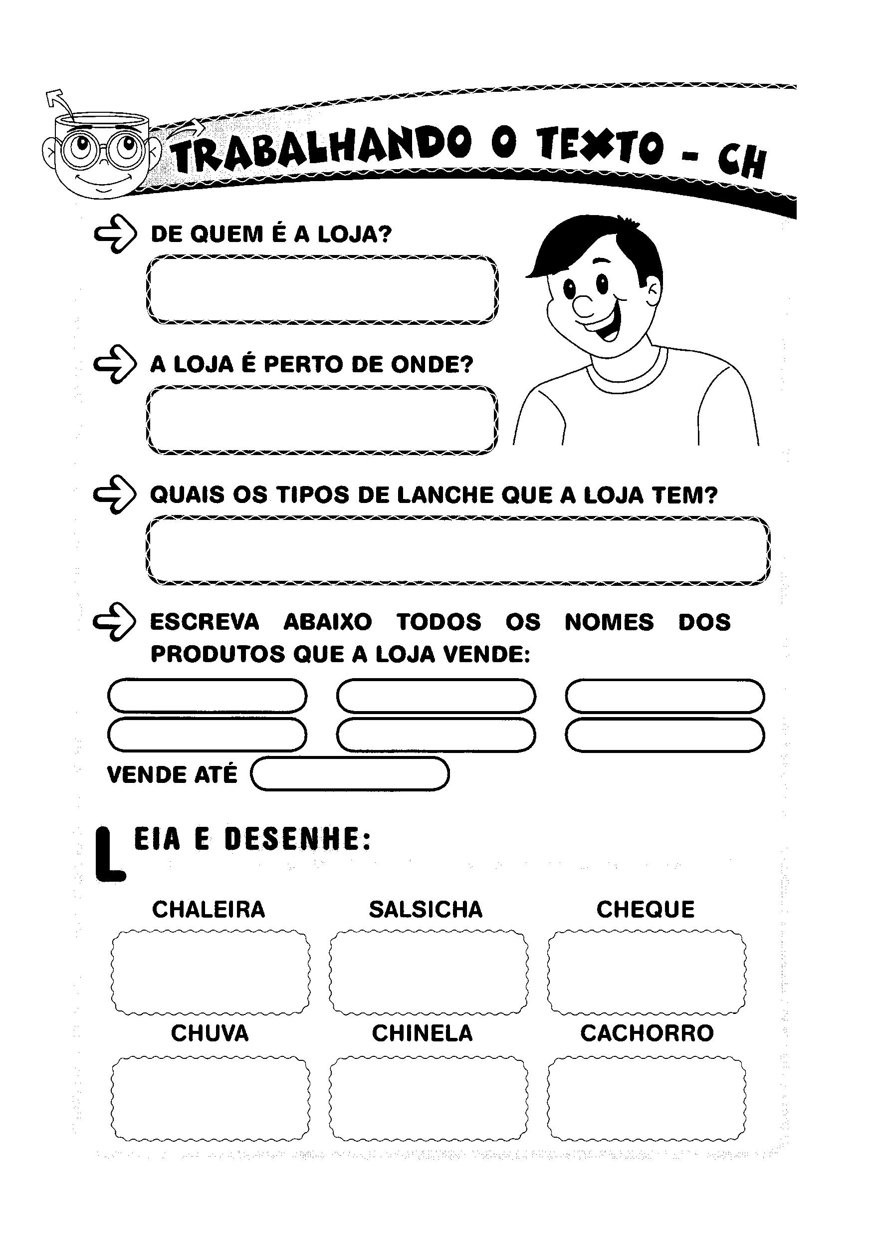 Atividades De Ortografia Com A Letra Ch Para Alfabetizacao