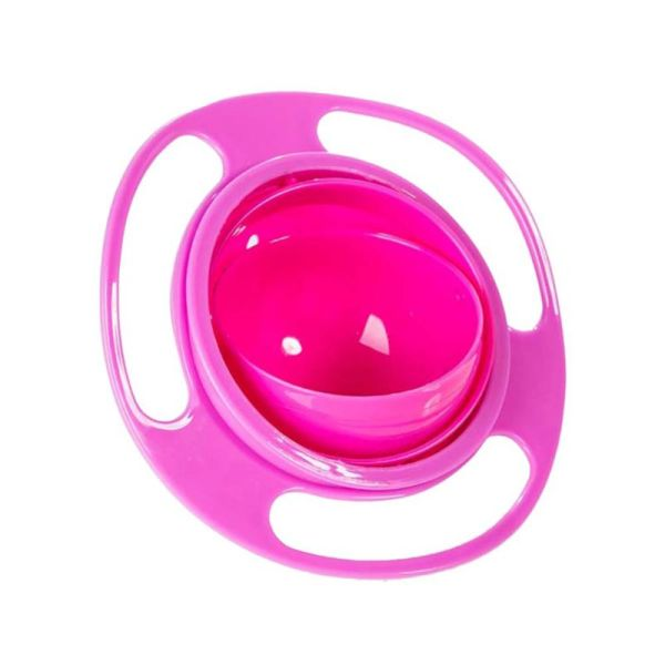 sobababy-rotating-spill-proof-baby-bowl-pink