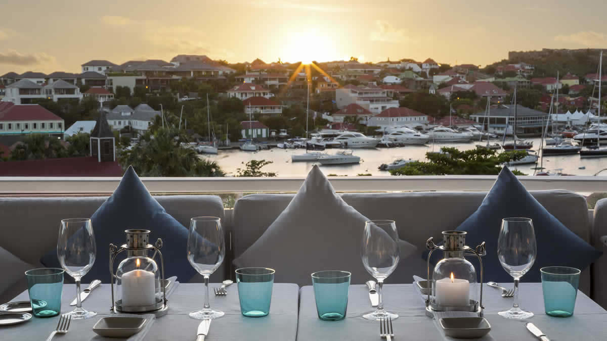 Bonito St Barts Gourmet Restaurant With A Splendid View