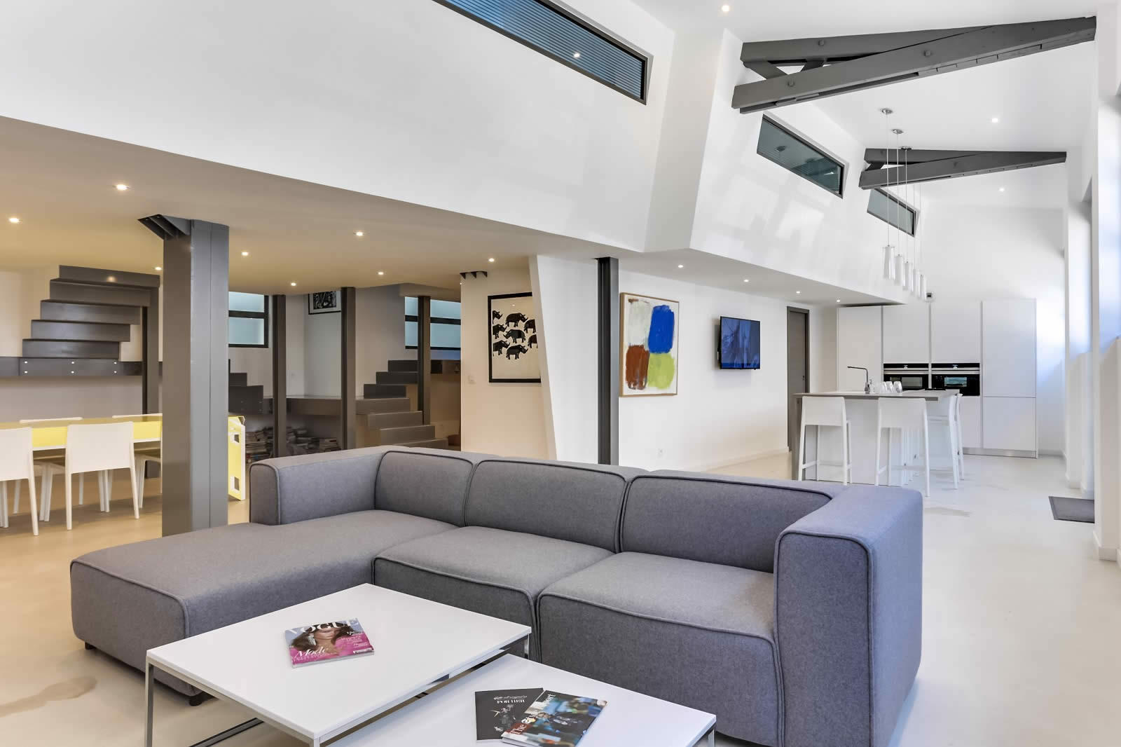 living room border bohemian chic ideas modern loft for sale in annecy with space commercial ...