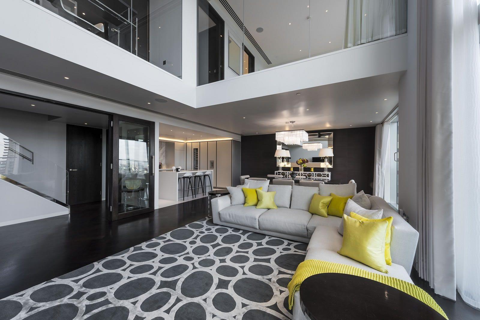 Exceptionnel appartement duplex de 3 chambres  vendre dans le gratteciel Heron  Londres  4