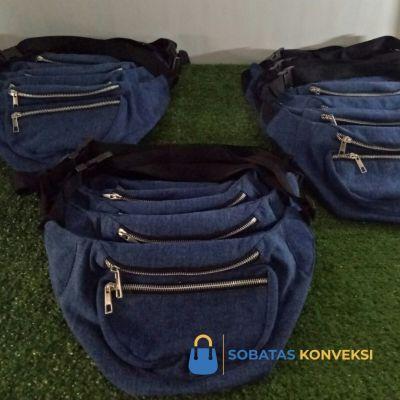 Waistbag Bahan Jeans Unik