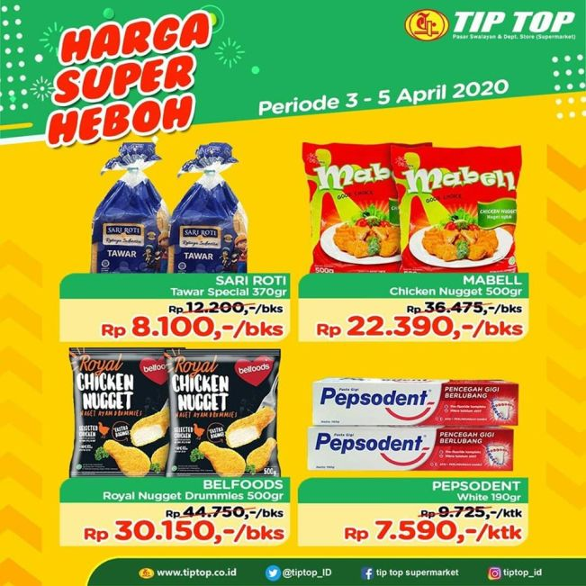 Mantap Promo Jsm Akhir Pekan Tip Top Supermarket Periode 3 5 April 2020