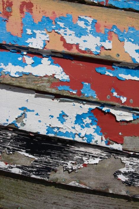 Peeling paintwork. Copyright Fiona Michie.