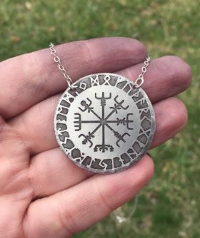Viking Rune Compass necklace