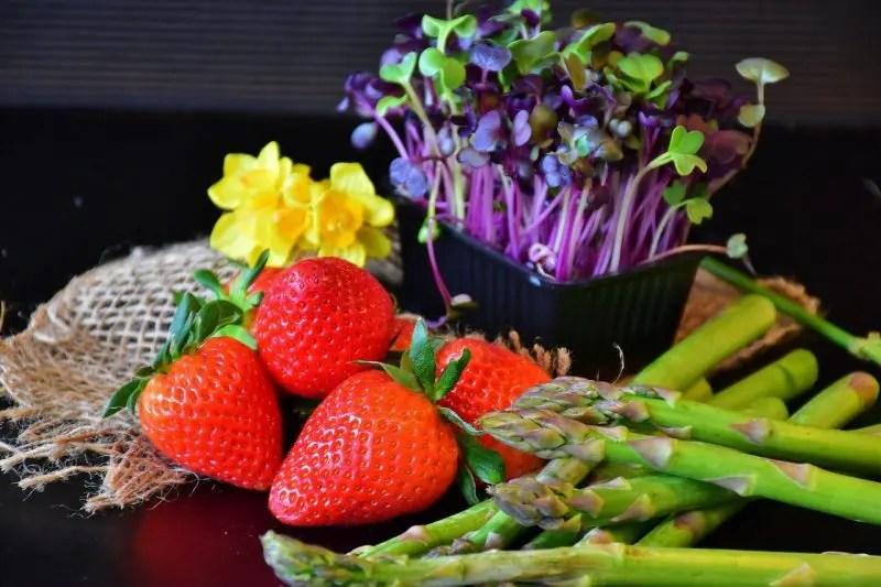 les fruits et légumes du printemps