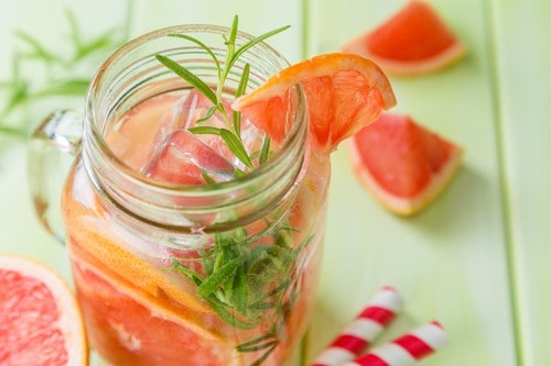 Rosemary and grapefruit detox water