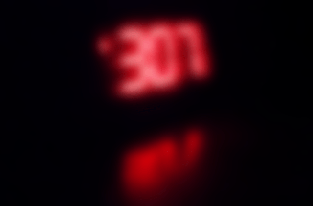 Blurry Clock 3:07am