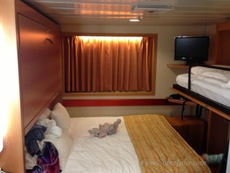 fantasy carnival cruise interior cabin ship staterooms stateroom single were everyone roomy quite feel space