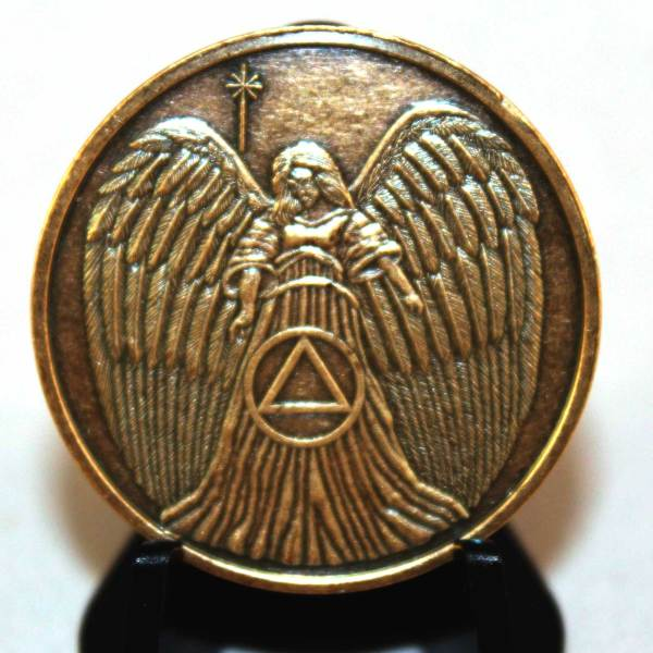 Guardian Angel Aa Bronze Recovery Medallion Sobriety Coins