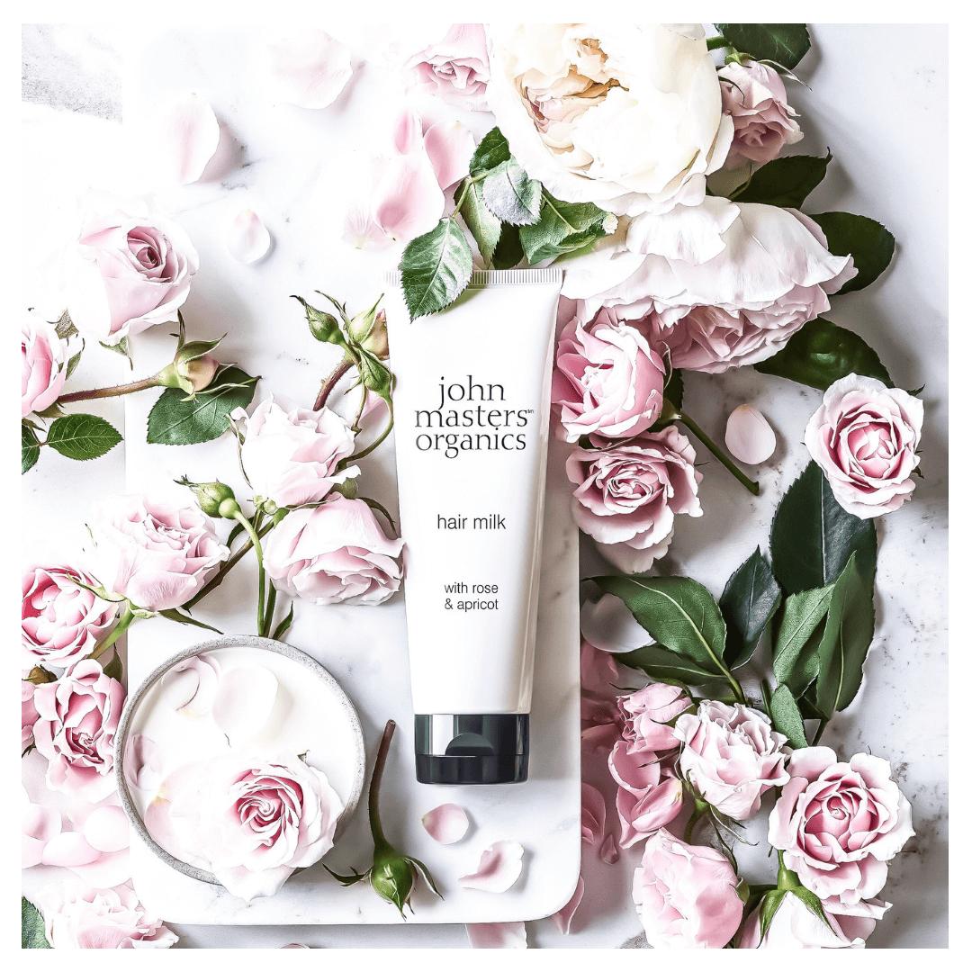 JOHN MASTERS ORGANICS Róża i morela – odżywcze mleczko do włosów _ SoBio Beauty Boutique