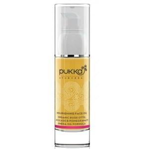 PUKKA odzywczy olejek do twarzy z rozą, awokado i granatem