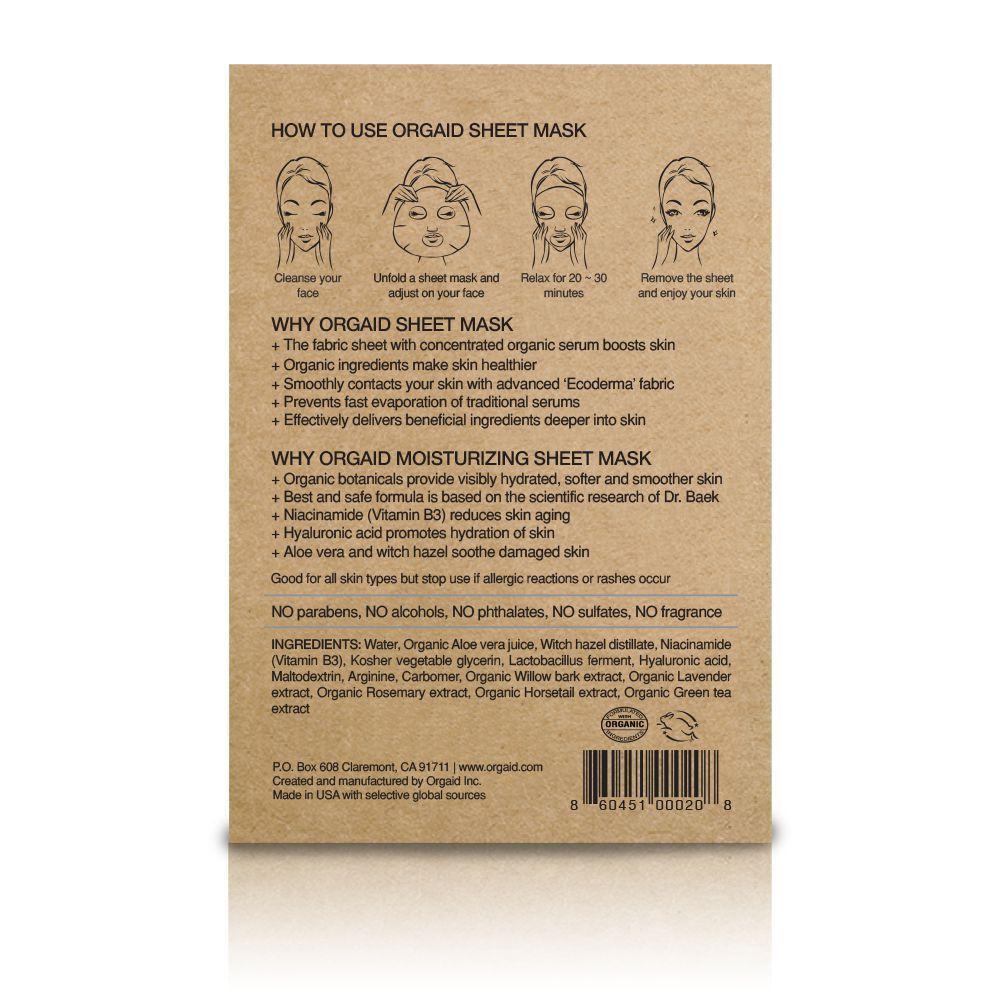 ORGAID Nawilżająca Maska Anti-Aging | SoBio Beauty Bourique Skład
